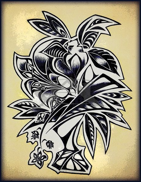 Exotic bouquet | Orinigal artwork | Fine-liner on fabriano paper