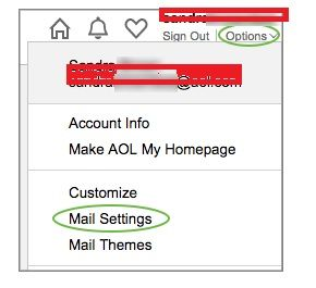 How To Delete A Folder In AOL Mail- select Settings.