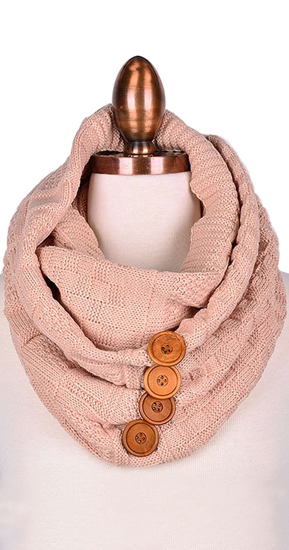 Between the buttons Infinity Scarf