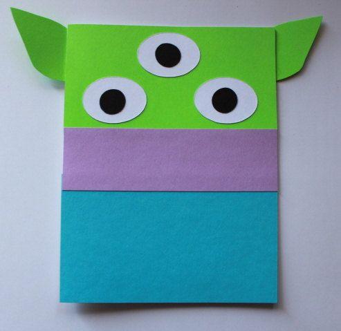 Toy Story Alien Invitation  Kit  DIY by tim7abebra on Etsy, $0.85