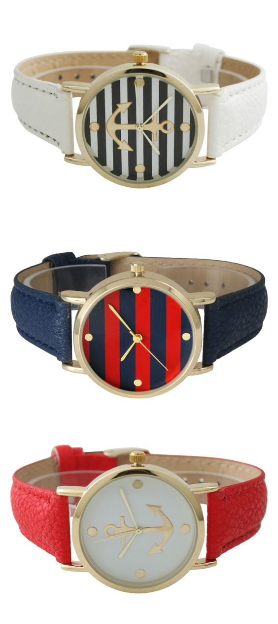 Nautical watches www.travelerhype.com #fashion #travel: