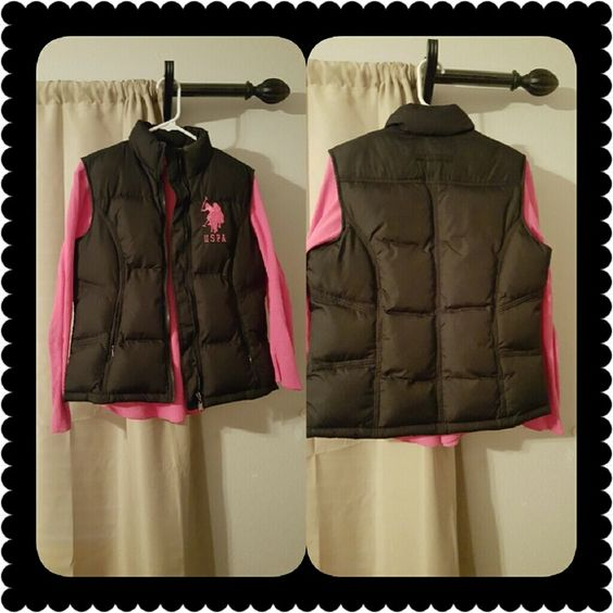 US. POLO PUFFER VEST US. POLO PUFFER VEST (Large) with pink (medium) long sleeve shirt to match. SUPER CUTE!!!  Would look Great Dressed Up or Down. Jackets & Coats Vests