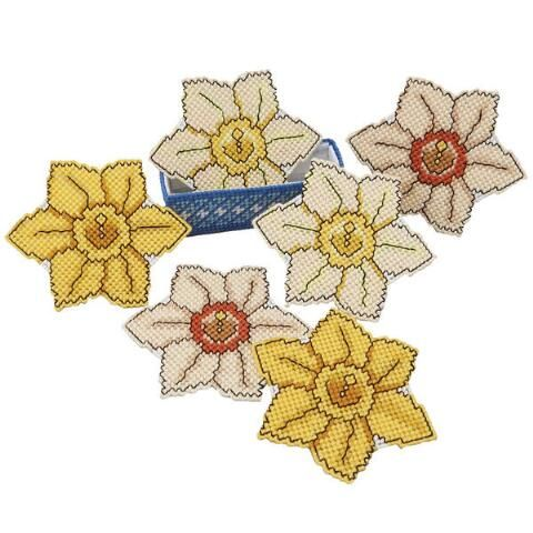 Craftways® Daffodil Coasters with Holder Plastic Canvas Kit Was: $16.00                     Now: $12.99: