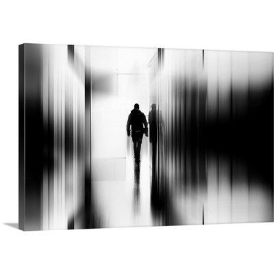 Canvas On Demand Troubled Stroll by Paulo Abrantes Graphic Art on Canvas Size: