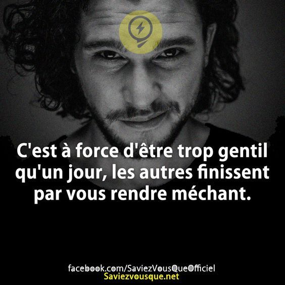 Trop Gentille Trop Bête Citation Osiris