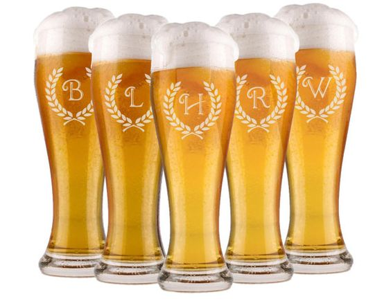 Engraved Wedding Beer Glasses : , Personalized Pilsner Glass, Engraved Glasses, Beer Mug, Wedding ...