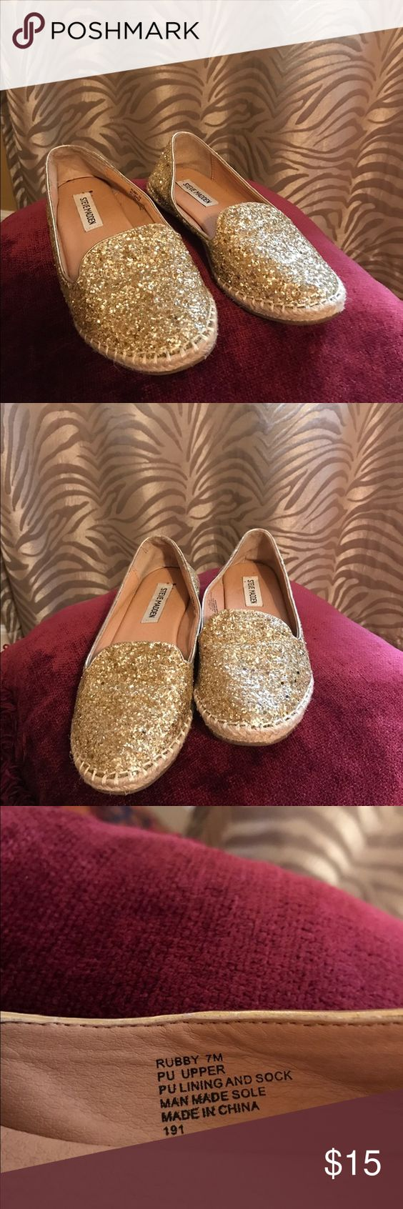Steve Madden Shoes Steve Madden 'Rubby' Glitter Slip-On Size 7 Steve Madden Shoes Flats & Loafers