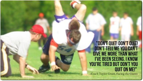 facing the giants quotes - Google Search