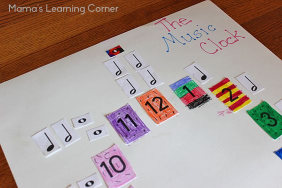 Learn the value of music notes when you make a Music Clock! Includes instructions and free printable music notes.