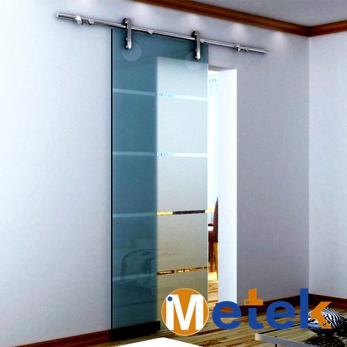 Sans cadre en verre coulissante grange quincaillerie de porte - installer un cadre de porte
