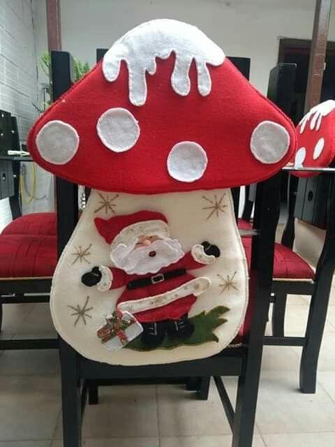 Forros Sillas Decoracion Navidad Manualidades