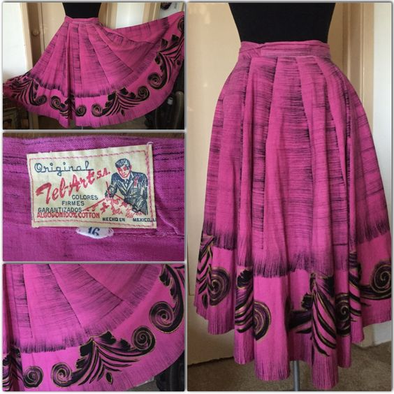 Vintage Mexican Circle Skirts! This one was from Ruby Champagne's collection, which she sold for someone else to enjoy.