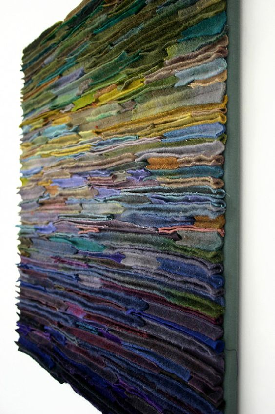 Quot Wool Fiber Art Wallhanging Along The Stream Banks Quot By