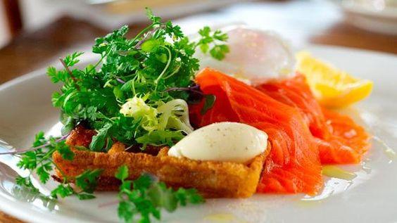 smoked salmon king salmon salads salad recipes eggs creme fraiche ...