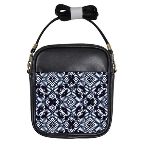Geometric print girls #slingbag in blue and white colors from #cowcow by #dflcprints