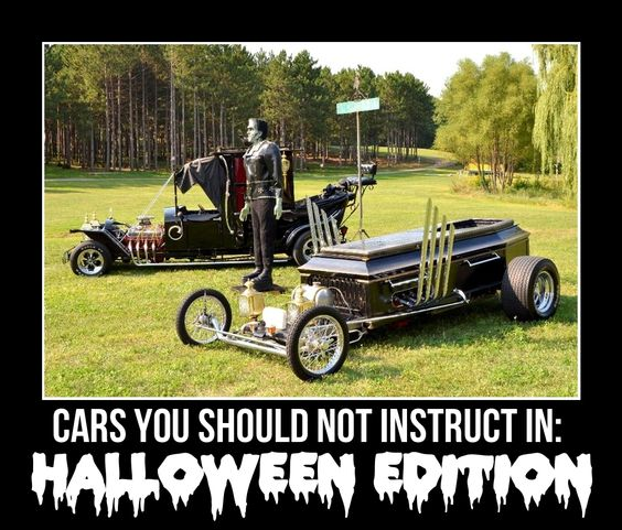 Cars you shouldn't instruct in: Halloween edition #HappyHalloween #cars