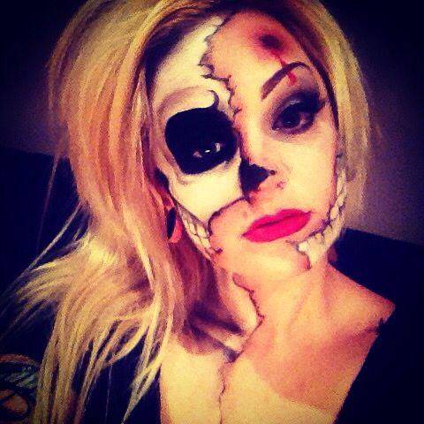 Skeleton/Gunshot wound Halloween Makeup #halloween ...