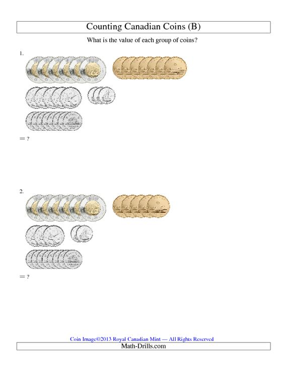New 2013-03-06! Counting Canadian Coins (B) -- 4 different ...