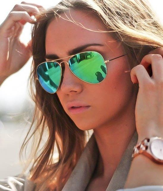 ray ban aviator yellow glass  new sexy silver aviator yellow green mirror glasses sunglasses 109 with defects