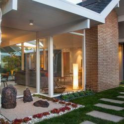 Landscaping Eichler Homes   Landscape Mid-Century Modern Homes & Eichlers, modern Japanese, Japanese, zen garden, succulents