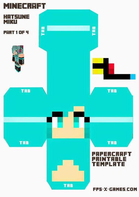 minecraft bookmark template - minecraft steve template download