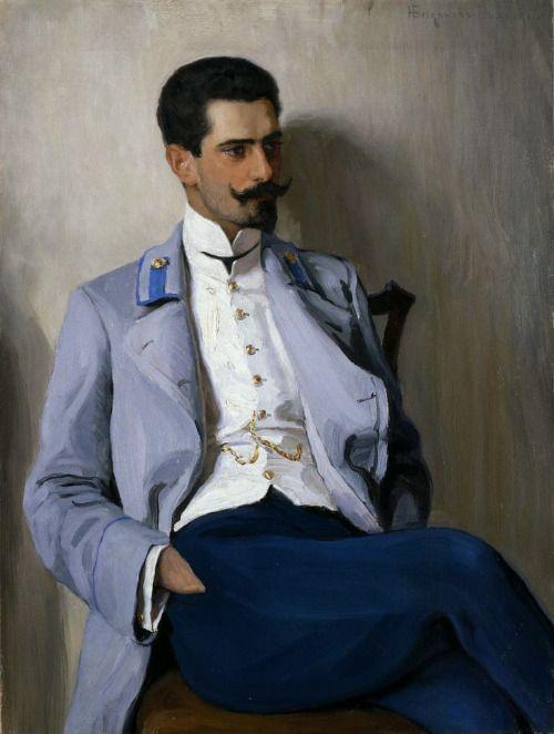 "monsieurlabette: ""1904 Nikolay Bogdanov-Belsky - Portrait of K.A. Gorchakov """