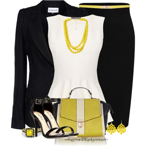 Black & White w/ Yellow Accents