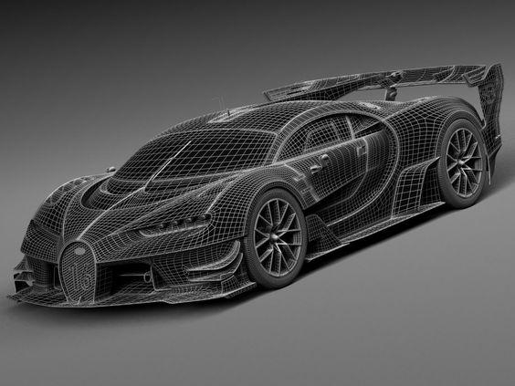 Bugatti Vision Gran Turismo Concept 2015 - 3d model - CGStudio