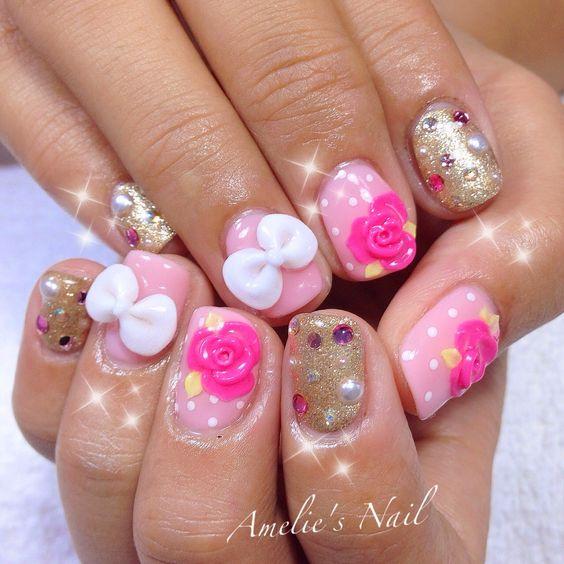 Amelie's Nail Journey: April Design~