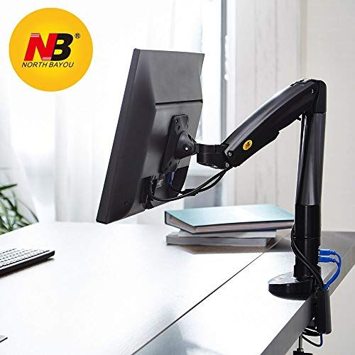 Monitor Desk Mount Stand Full Motion Swivel Monitor Arm Gas Spring for 17/'/'-27/'/'