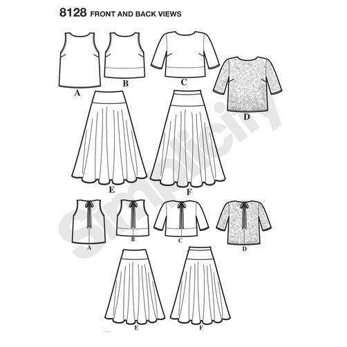 Simplicity Pattern 8128 Misses' Two Piece Dress
