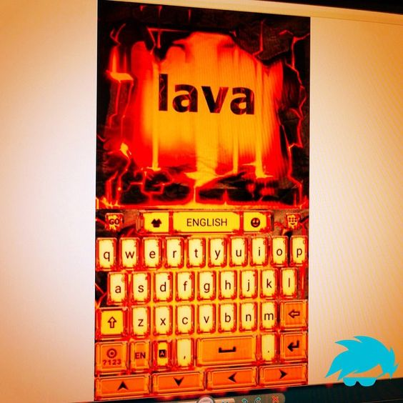 Want a #keyboard dripping with hot lava... without actually throwing your phone into a volcano?