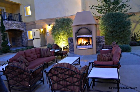 Enjoy a glass of wine by the fire~ Getaway to The Meritage in Napa! so perfect for in-laws to get to know each other