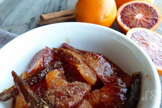 Salade d'oranges, dattes, miel et fleur d'oranger recette