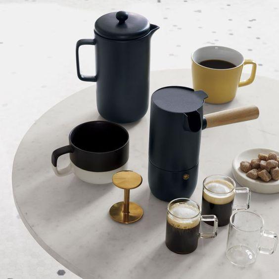Stelton Collar Espresso Maker White Coffee Mugs Modern Coffee Makers Unique Coffee Mugs