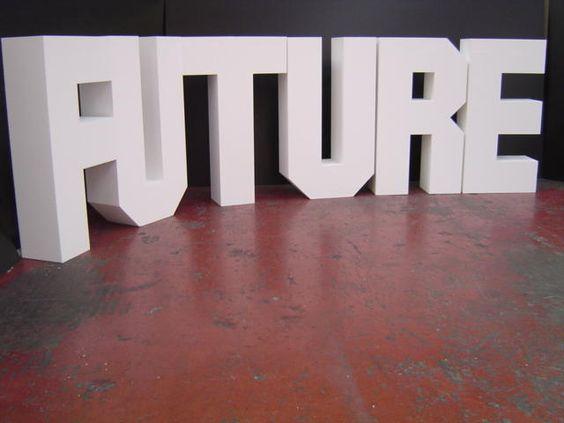 Grote piepschuim letters budgetfoam piepschuim letters pinterest letters - Concrete effect tafel ...