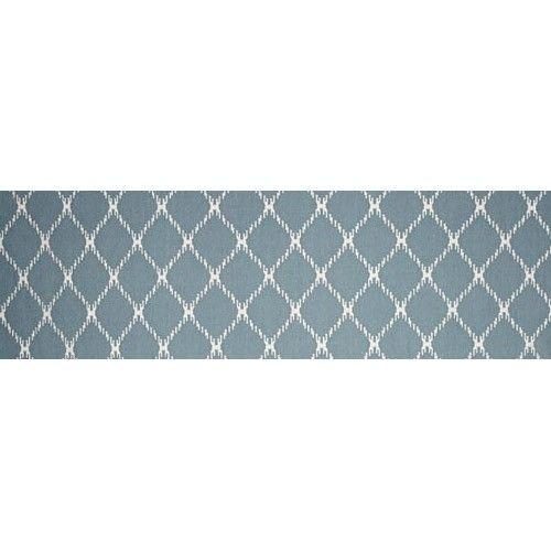 Oasis Flat Weave Designer Runner - 400 x 80cm - Blue