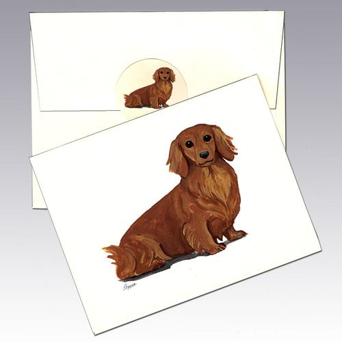 Dachshund Note Cards In 2020 Dachshund Dog Gifts Dog Names