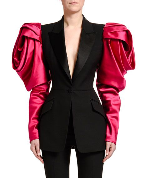 Fall/Winter 2020/2021 Fashion Trends :Alexander McQueen fall winter rose sleeve jacket 2020