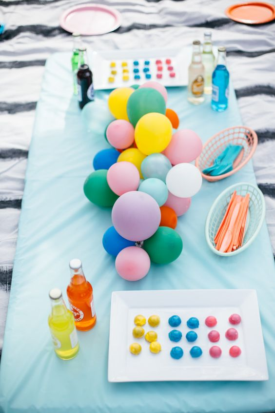 Balloons make any occasion feel special! Come to the blog and check out how to make a colorful balloon centerpiece!