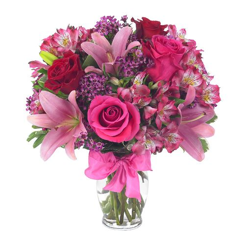 Rose & Lily Celebration! A stunning flower bouquet for Mother's Day! http://www.sendflowers.com/holiday/mothers-day-flowers-gifts: