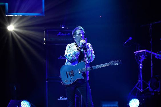 Matt Bellamy of Muse performs onstage during The CW Network's 2017 Upfront at New York City Center on May 18 2017 in New York City: