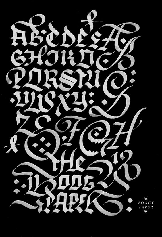 The Boogy Paper calligraphy by Julien Priez, via Behance
