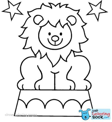 Circus Animal Coloring Pages Shieldprintco With Regard To Printable Circus Lion Coloring Pages Downlo Lion Coloring Pages Animal Coloring Pages Circus Crafts