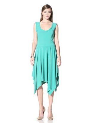 A.B.S. by Allen Schwartz Women's Scoop Neck Sleeveless Hanky Skirt Dress (Kelly Green)