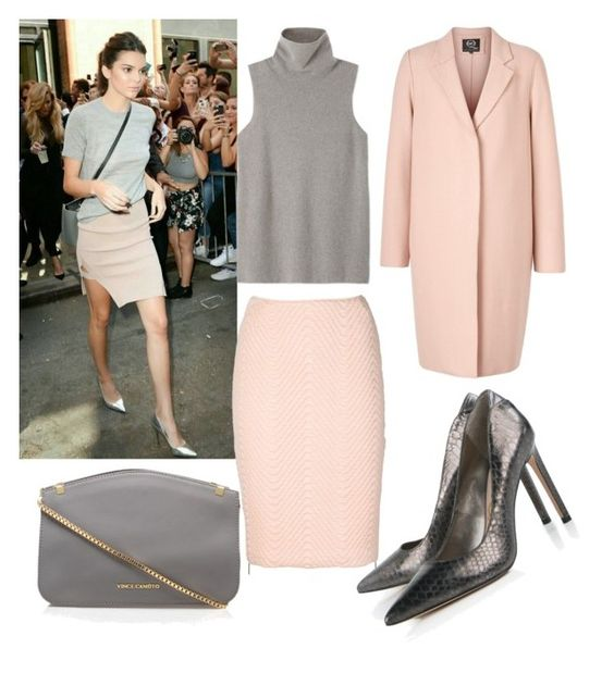 """""""Grey & Pink"""" by rhmz on Polyvore featuring koonhor, The Row, McQ by Alexander McQueen, Vince Camuto, Sam Edelman, women's clothing, women, female, woman and misses"""