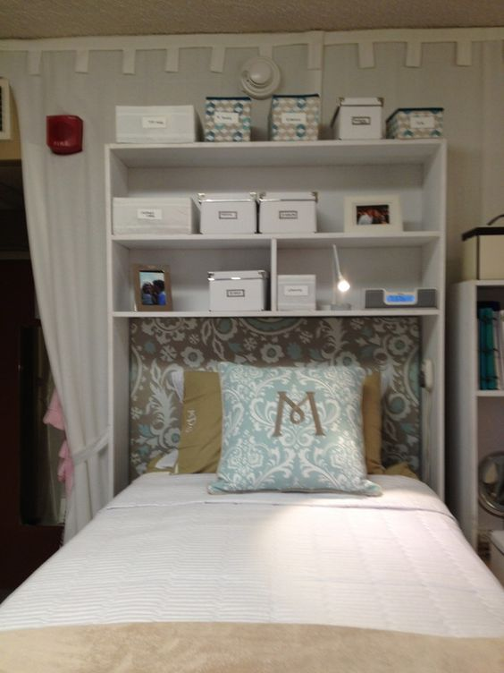 How To Make Above Bed Shelf For Dorm Room