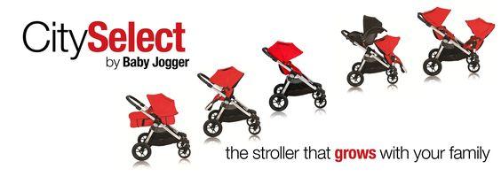 Baby Jogger City Select 4-Rad Buggy Silber