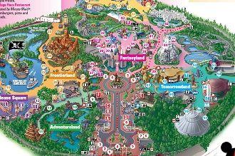 Printable Map of Disneyland