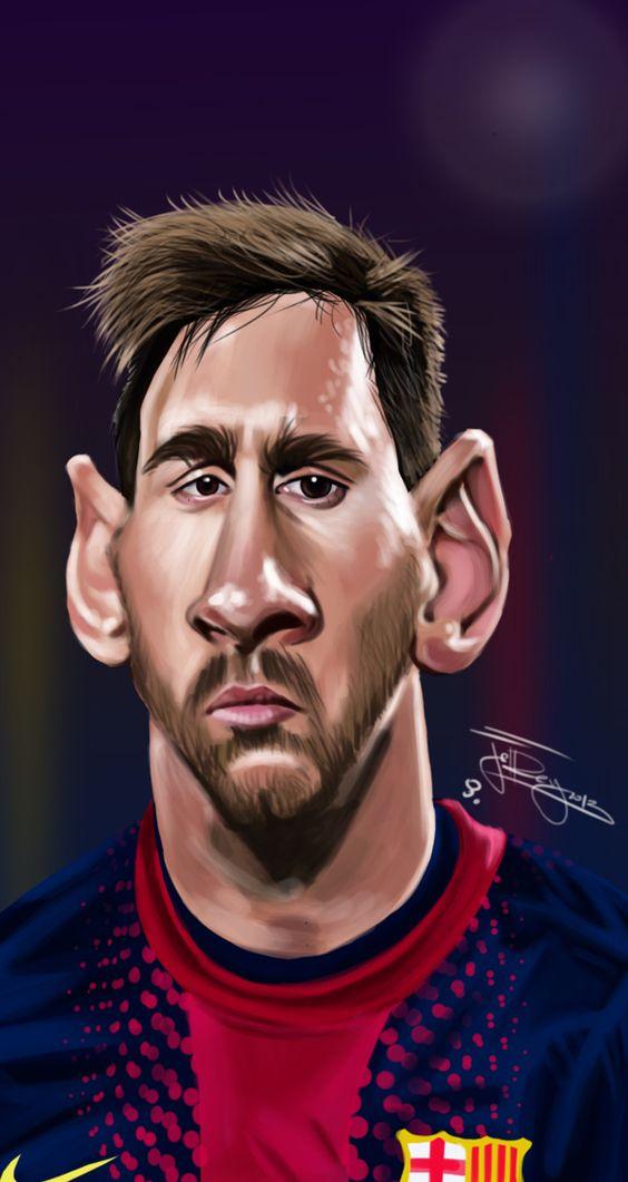 Gambar kartun Lionel Messi